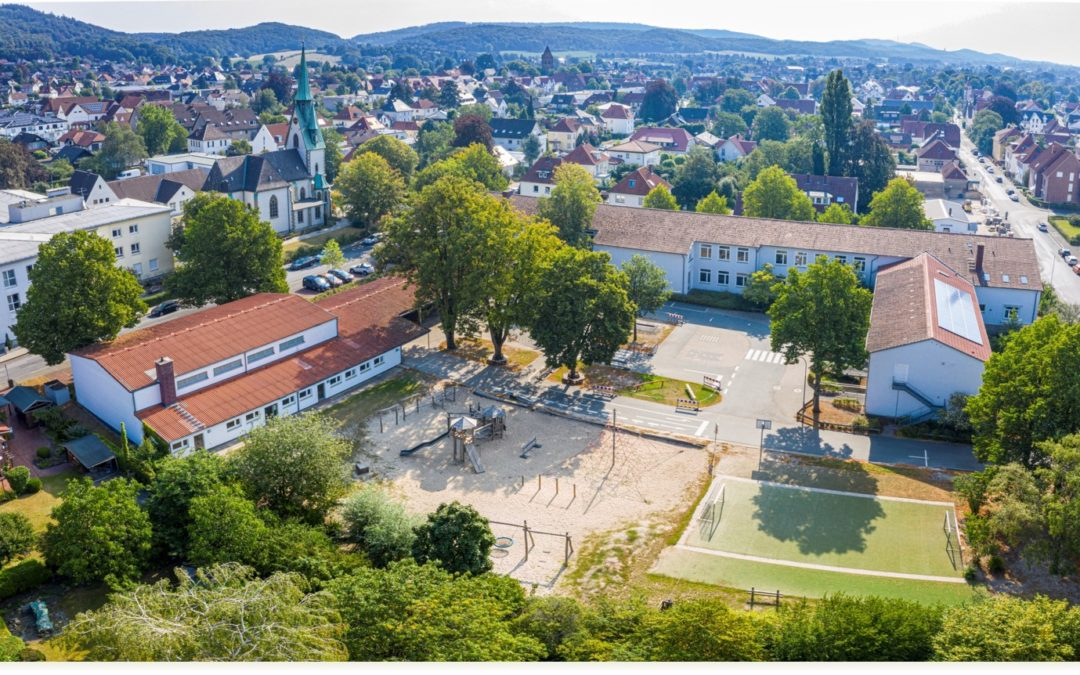Die Lindenschule von oben